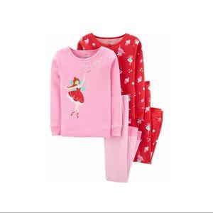 NWT 4pc Carter's Fairy Princess Candy Paja…